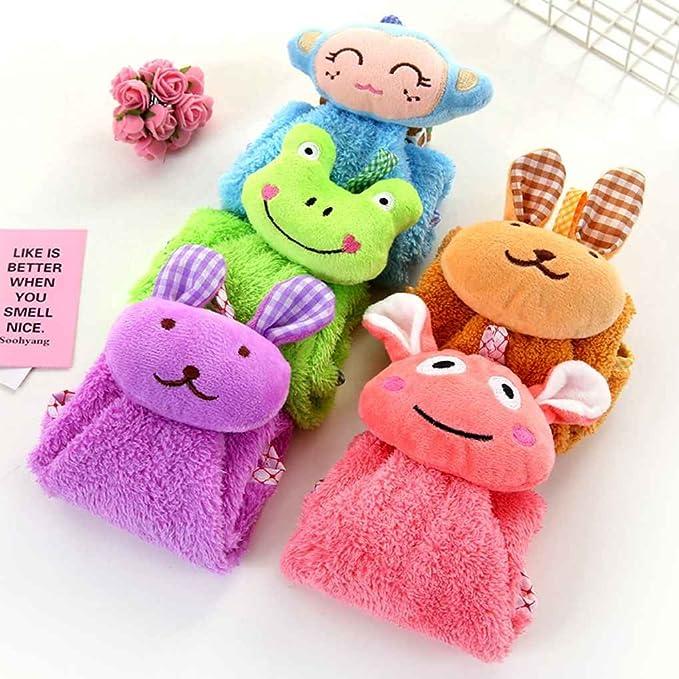 GOTTING Pequeños animales de cocina Wipe toalla que cuelga toallas de mano Pañuelo niños Cocina Baño de dibujos animados saliva Paños Paño de cocina Verde: ...