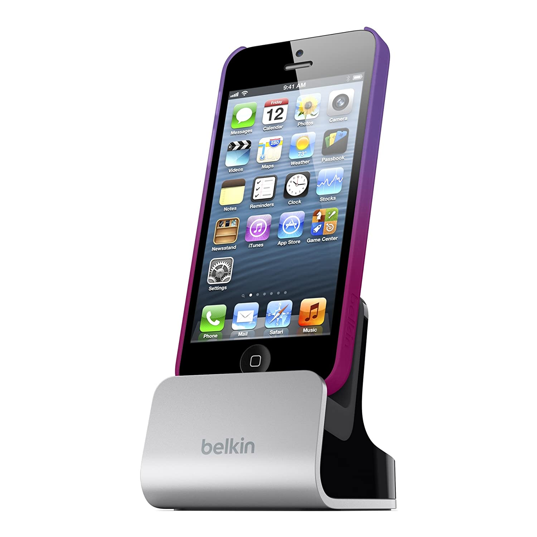 Amazon.com: Belkin F8J057bt Cradle with Audio Port for iPhone 5/5s ...
