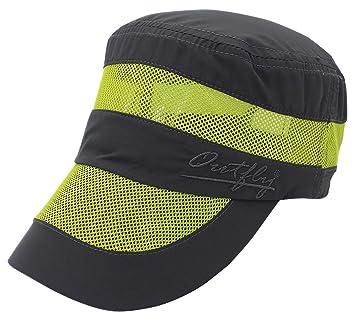Outfly - Hombre Mujer Gorro para Verano con Velcro Ajustable con Rejilla Transpirable Gorra de Golf