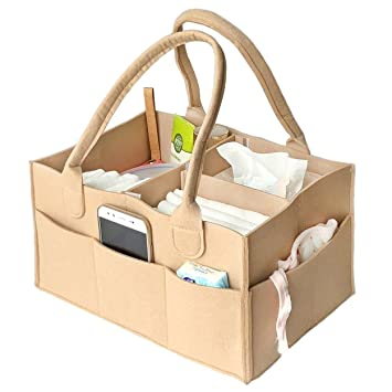 Baby Diaper Organiser Bag Toy Storage Bin VANCORE Felt Nursery Storage Bag Diaper Caddy Great Mommy Helper