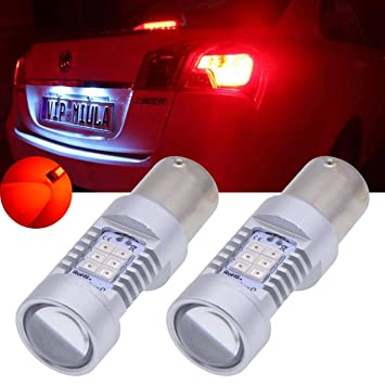 TUINCYN 1156 Bombilla LED intermitente intermitentes Bombillas rojo 7056 1141 1073 1095 2835 21 SMD LED Auto trasera Luz de freno marcha atrás (2 unidades): ...