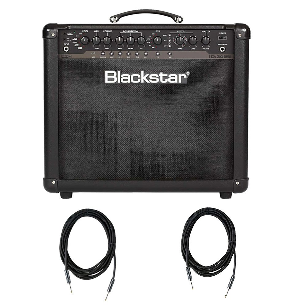 Blackstar ID30 1X12'' 30W Programmable Combo with 2 Strukture SC10W - 10ft Instrument Cable