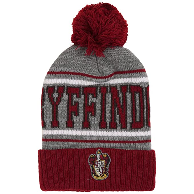 d8219ceeca2 Image Unavailable. Image not available for. Color  Bioworld Harry Potter  Gryffindor Pom Pom Beanie