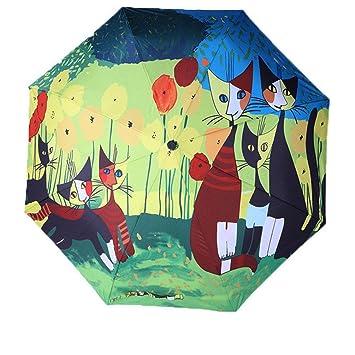 Go Further Pintor italiano Rosina gato estrella maullido uno de tres paraguas plegable: Amazon.es: Equipaje