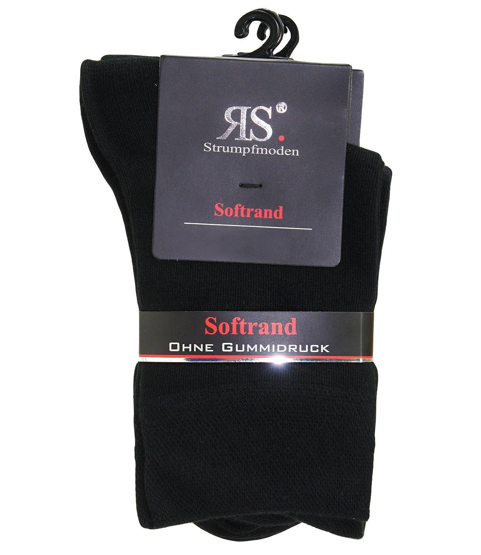incl Hutfibel RS-13312-S16-DA0 EveryHead 3 Paquet Extra Fine Classique Bas Chaussettes De Femmes Soquettes Sans Caoutchouc Premium Qualit/é En Noir