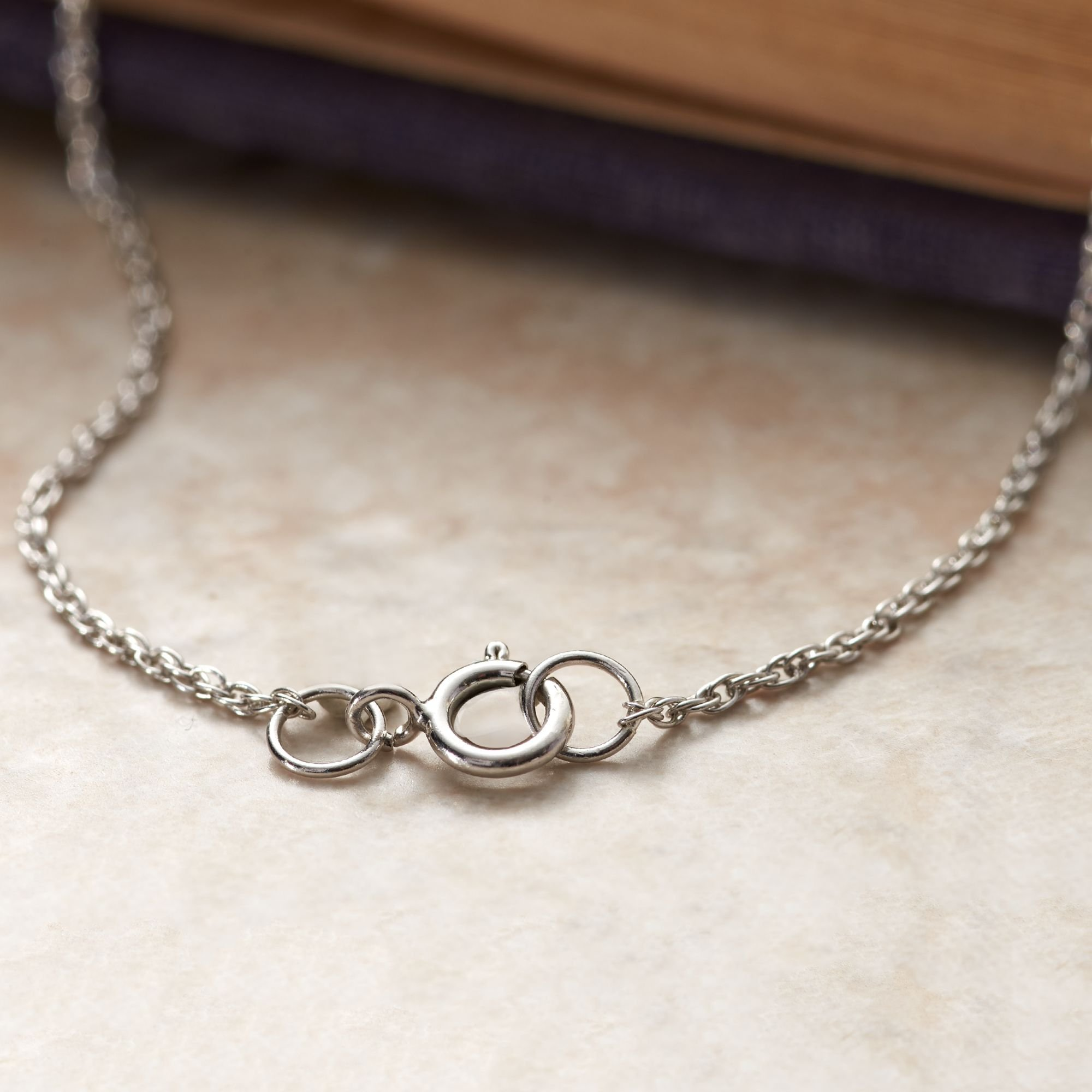 Ross-Simons 6-10mm Sterling Silver Bead Necklace With .20 ct. t.w. Diamonds by Ross-Simons (Image #7)