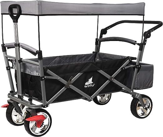 WOLTU Carreta Plegable para Jardín y Aire Libre Carro Plegable de Mano Carro Transporte con Bolsa Fácil Manejo Máx.80kg Color Antracita TW004ang: Amazon.es: Industria, empresas y ciencia