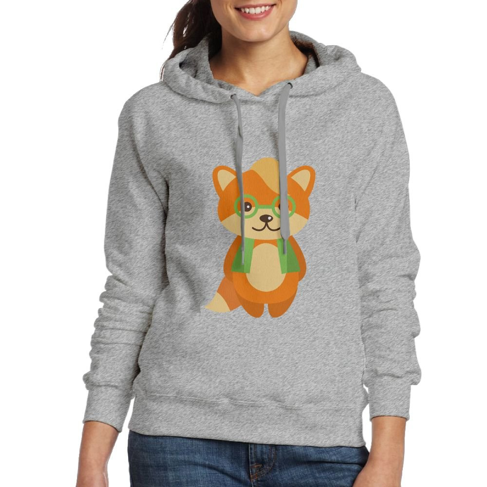 MostPopular Glasess Fox Womens Hoodie Sweatshirt For Fall//Winter For Women