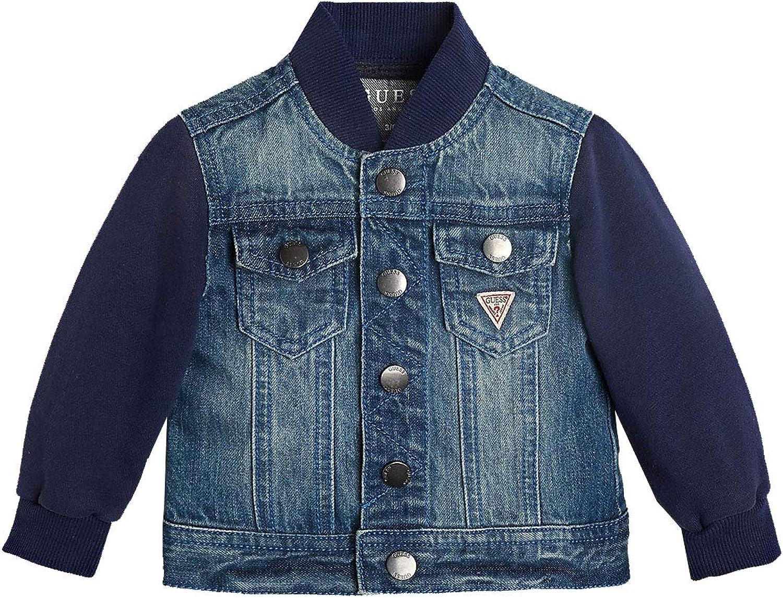 Guess Denim LS Jacket W Terry Sleeve