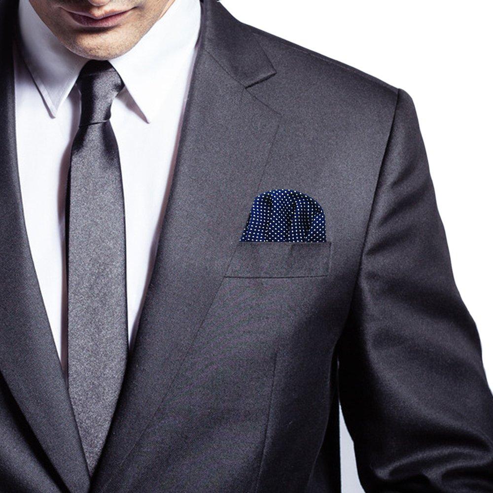 Amazon.com: Clásico de los hombres Suit plegado cuadrados ...