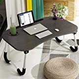 Laptop Desk, Astory Portable Laptop Bed Tray Table Notebook Stand Reading Holder with Foldable Legs & Cup Slot for Eating Bre