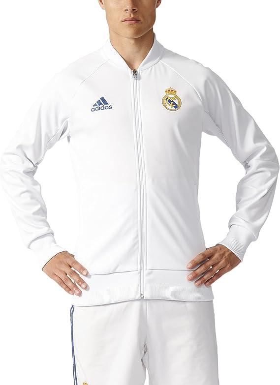 adidas Real Madrid 16/17 Home Anthem Crywht/RawPur - Chaqueta ...