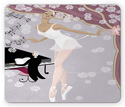 Amazon com: Ambesonne Ballet Mouse Pad, Graceful Ballerina