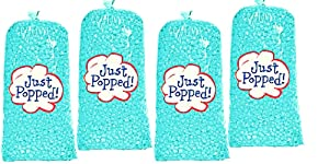 Gourmet Delicious Theater Butter Baby Blue Baby Shower Popcorn - Valentines Memorial Day Independence Veterans Day Christmas Butter Popcorn 4- Pack (72 Cups Per Case)