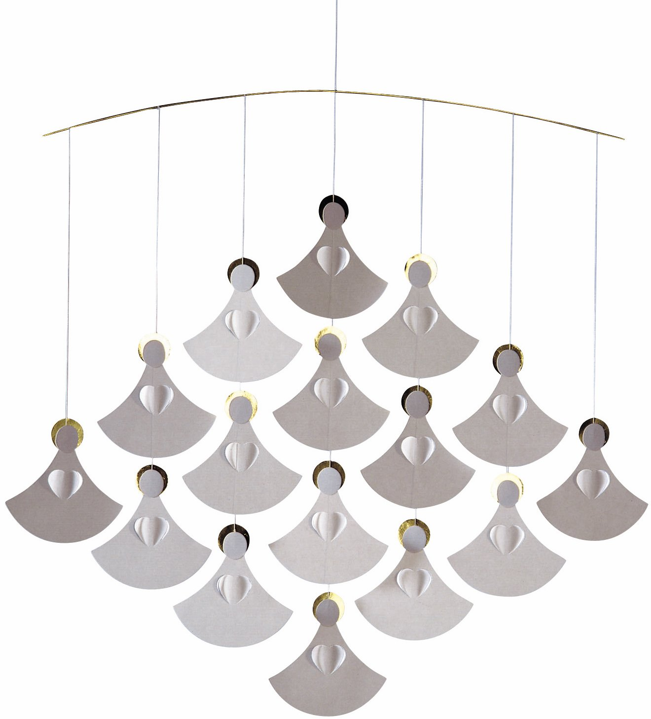 Angel Chorus (16 Angels) Hanging Mobile - 18 Inches - Handmade in Denmark by Flensted Flensted Mobiles