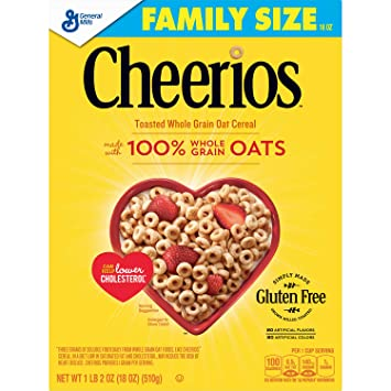 amazon com cheerios gluten free breakfast cereal 21 oz family