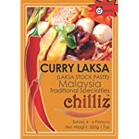 Chilliz Laksa Stock Curry Paste 200 g, 200 g, Laksa Stock Curry