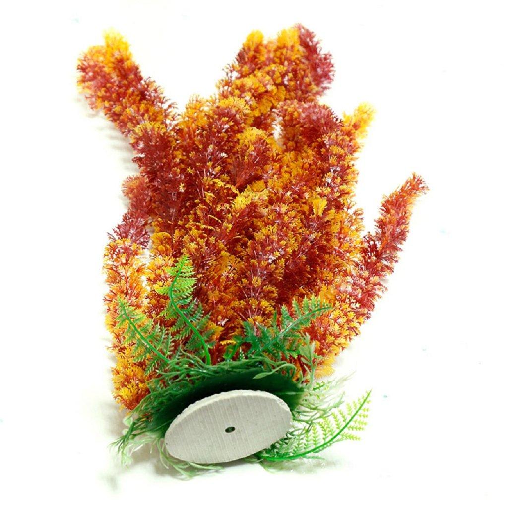 GUBENM künstliche Aquariumpflanze, Aquarium Dekoration Fisch Flasche Wasserpflanze Plastik 46cm