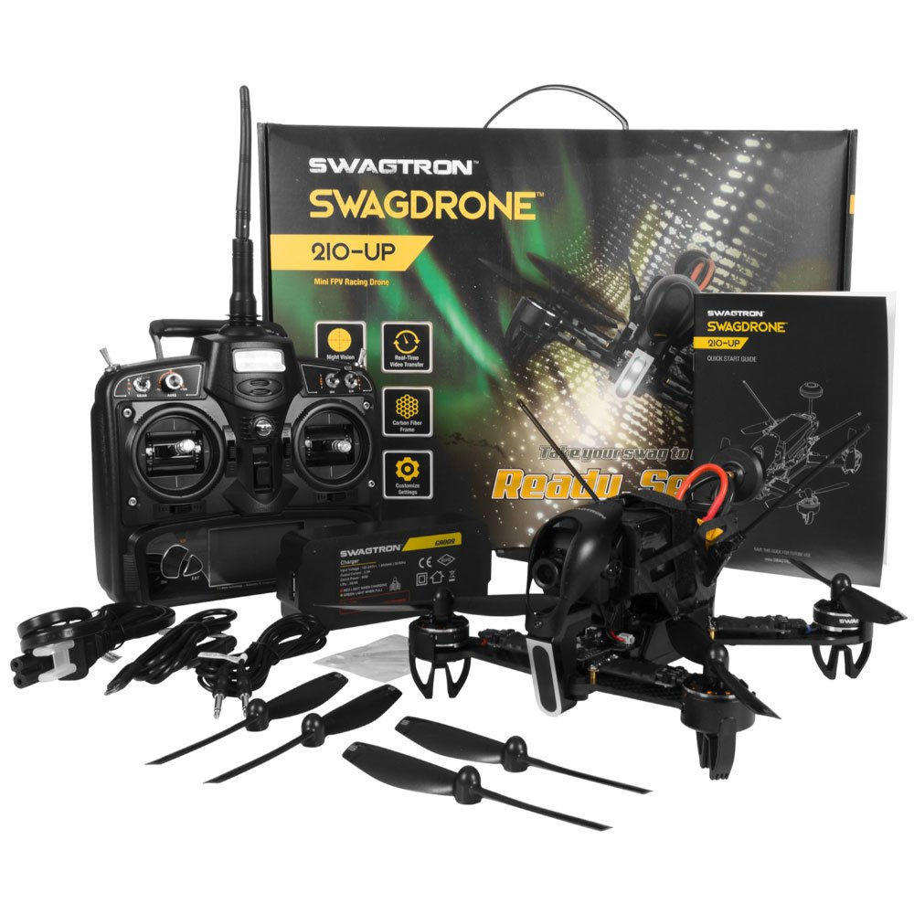Amazon.com: SWAGTRON SwagDrone 210-UP RTF Ready To Fly Racing Drone ...