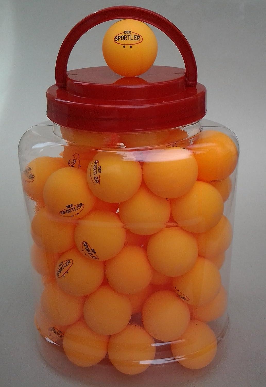 60 TT-Bälle ** Tischtennisbälle im Eimer Tischtennisball orange Der Sportler GmbH