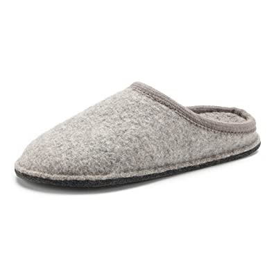 7f6a3c2493110 LE KAPMOZ Men's Boiled Wool House Slippers Breathable Warm Clog Slip on  Mule Indoor/Outdoor