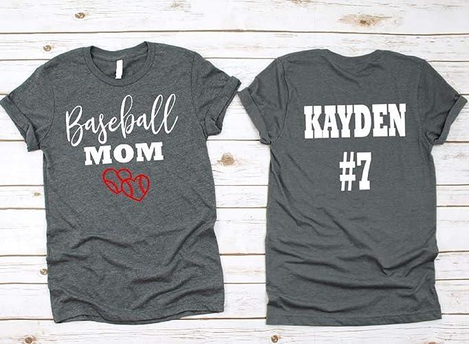 91989234 Image Unavailable. Image not available for. Color: Baseball Mom- Baseball  Mom Shirts ...