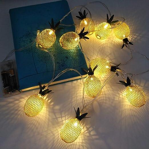 Amazon.com: Tira de luces LED con diseño de piñ ...