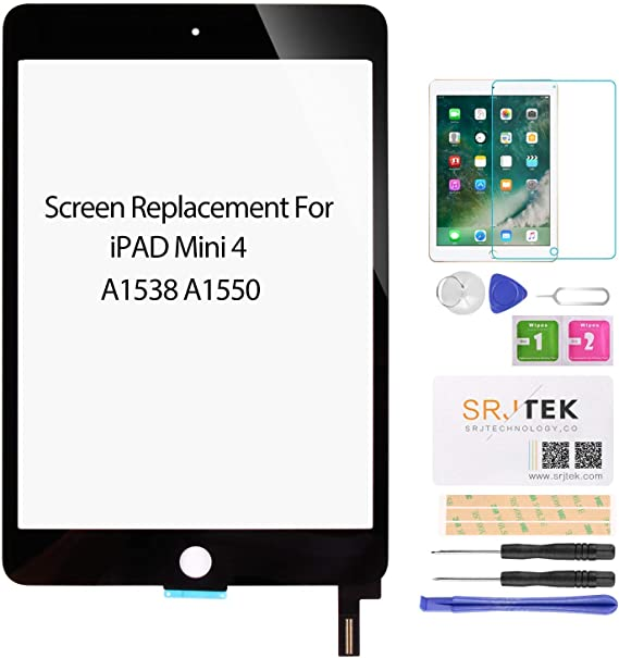 Digitier Touch Screen Glass LCD Replacement For iPad Mini 4 Black