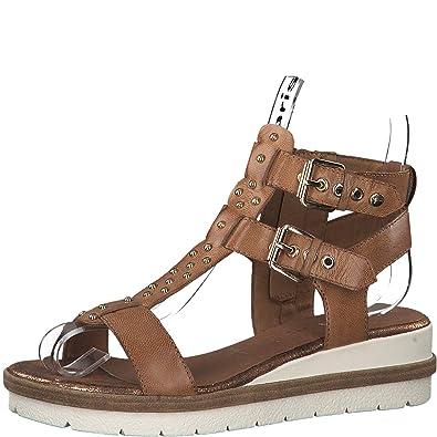 chaussures de sport 928a0 dd4c5 Tamaris 1-1-28227-22 Femme Sandales compensées,Sandales,Sandales  compensées,Chaussures d'été,Confortable,Plat,Touch-IT