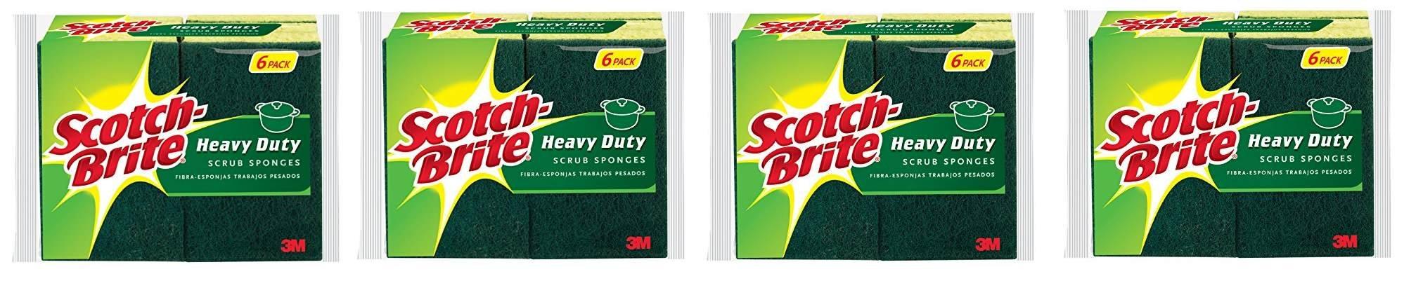 Scotch-Brite Heavy Duty Scrub Sponge xworqU, 24 Count by Scotch-Brite