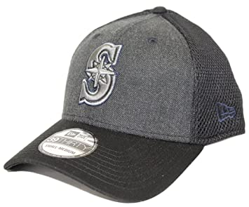 82ed47cd079 Seattle Mariners New Era MLB 39THIRTY  quot Heathered Black Neo quot  Flex  Fit Hat