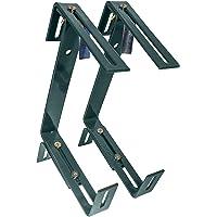 HelpAccess® Juego de 2 soportes para jardineras sin taladrar, soporte para jardineras de balcón, gancho y soporte (verde…