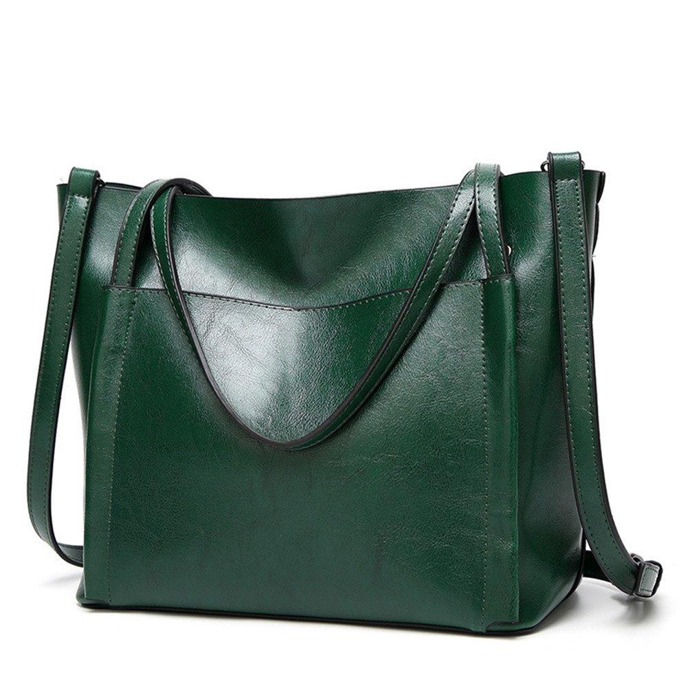 Fayland Women Stylish Leather Hobo Handbags Large Capicity Messenger Shoulder Bag Satchel Tote Bags Green