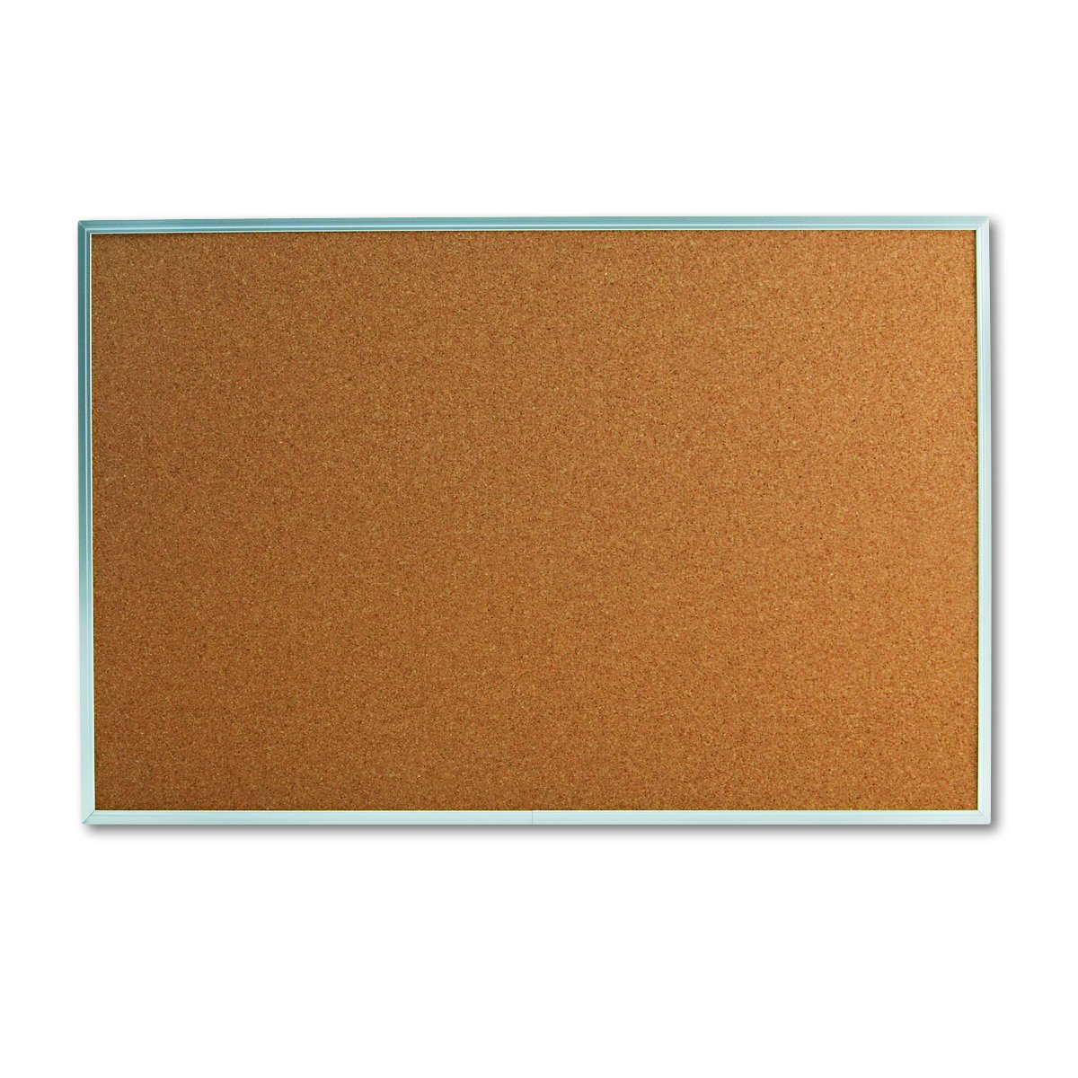 Universal 43613 Bulletin Board, Natural Cork, 36 x 24, Satin-Finished Aluminum Frame