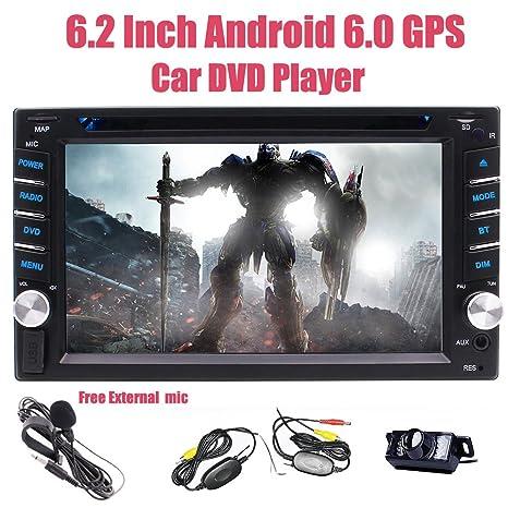 EINCAR Cš¢mara Inalš¢mbrico Incluido Doble 2 Unidad Principal DIN en el Tablero de Coches Reproductor de DVD Bluetooth Autoradio Navegador GPS WiFi 4G FM Am ...