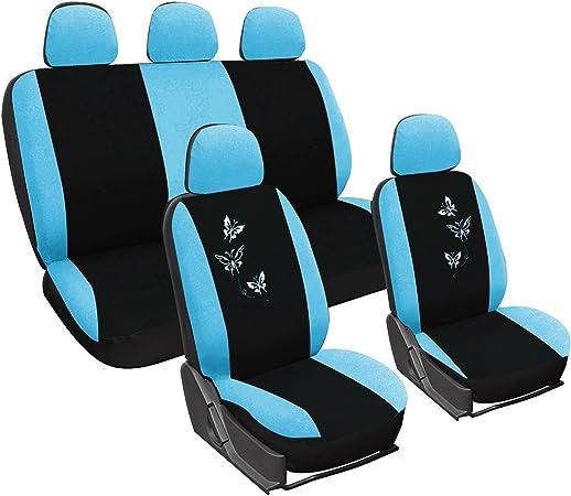 Woltu As7244 Universal Sitzbezug Für Auto Sitzbezüge Schonbezüge Autositzschoner Butterfly Stickerei Schwarz Blau Auto