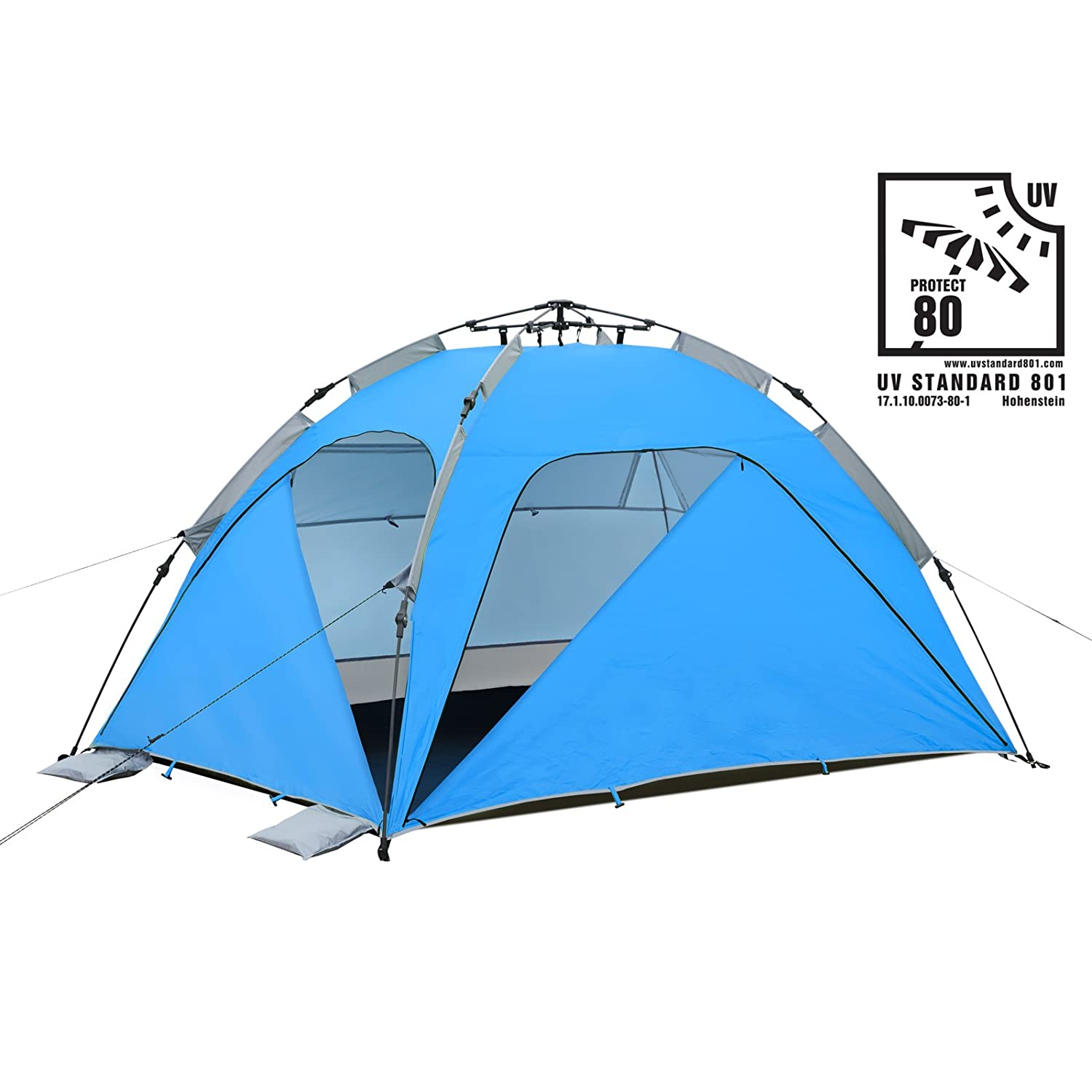 Quick-Up-System with UV-Protection Sun Shelter UV80 Qeedo Quick Palm Beach Tent