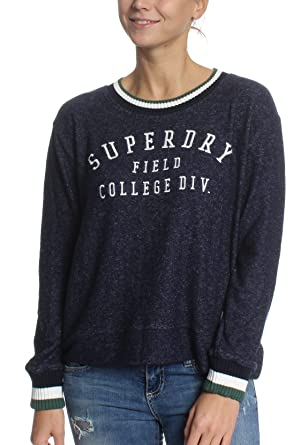 the best attitude 9feed 2a65f Superdry Sweatshirt Damen BRENTWOOD SWEATER Captain Navy ...