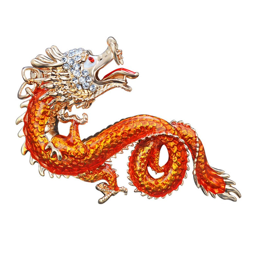 CqmzpdiC Key Holder, Chinese Dragon Pendant, Bag Ornament Unisex Chinese Dragon Rhinestones Keychain Key Ring Bag Hanging Ornament Pendant - Light#