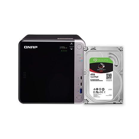 QNAP TS-453BT3-8G-US 4-Bay Thunderbolt 3 NAS  Intel Celeron Apollo Lake  J3455 Quad-core CPU, 8GB RAM, SATA 6Gb/s