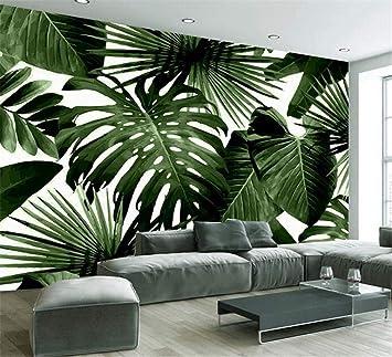 Papier Peintnon Tisséforêt Tropicale Humide Feuilles De Bananier