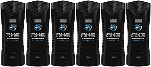 Axe Shower Gel, Anarchy, 16 Fluid Ounce (Pack of 6)