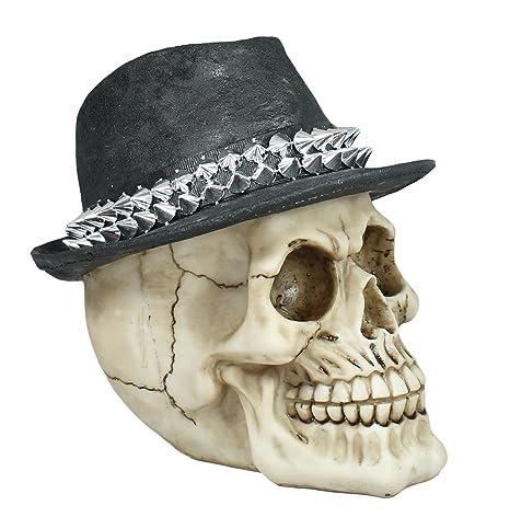 Dekofigur Totenkopf mit Cappy und Stacheln Schädel Mystic Gothic Fantasy Dekorat