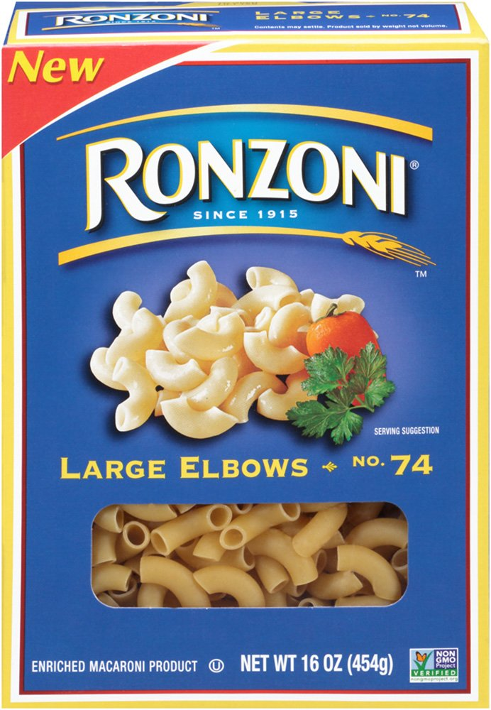 Ronzoni Large Elbows 16 Oz Pack Of 12