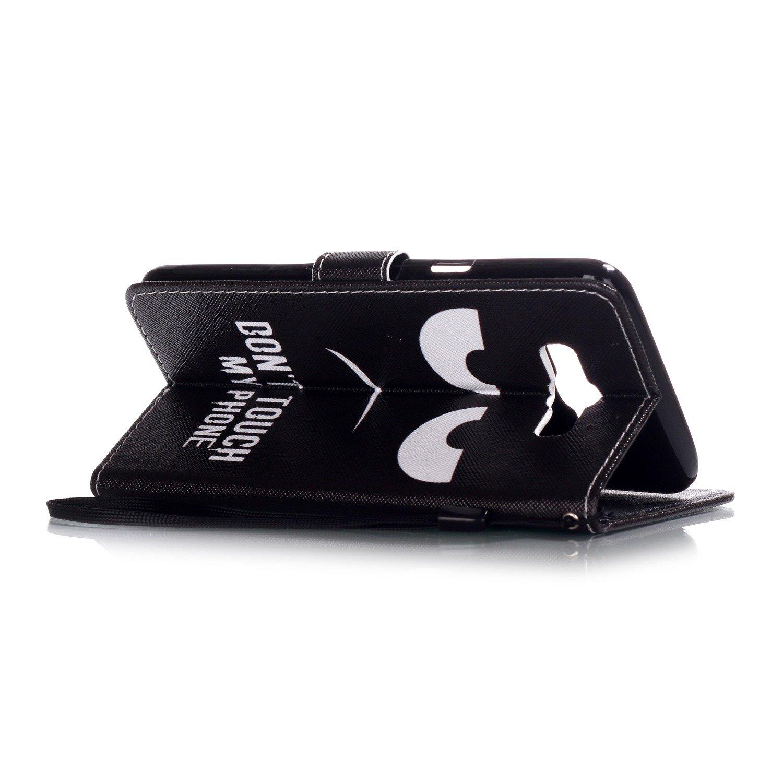 Dooki A-3 Galaxy J7 2016 Coque Flip PU Cuir Supporter Pochette Portefeuille Couverture Housse Coque Etui pour Samsung Galaxy J7 2016 avec Crédit Carte Tenant Fente