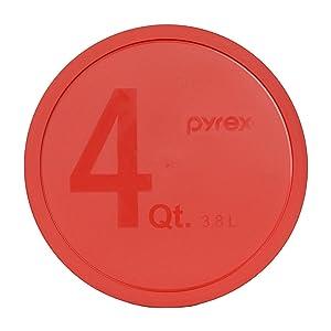 Pyrex - Red 4 Quart Mixing Bowl Lid