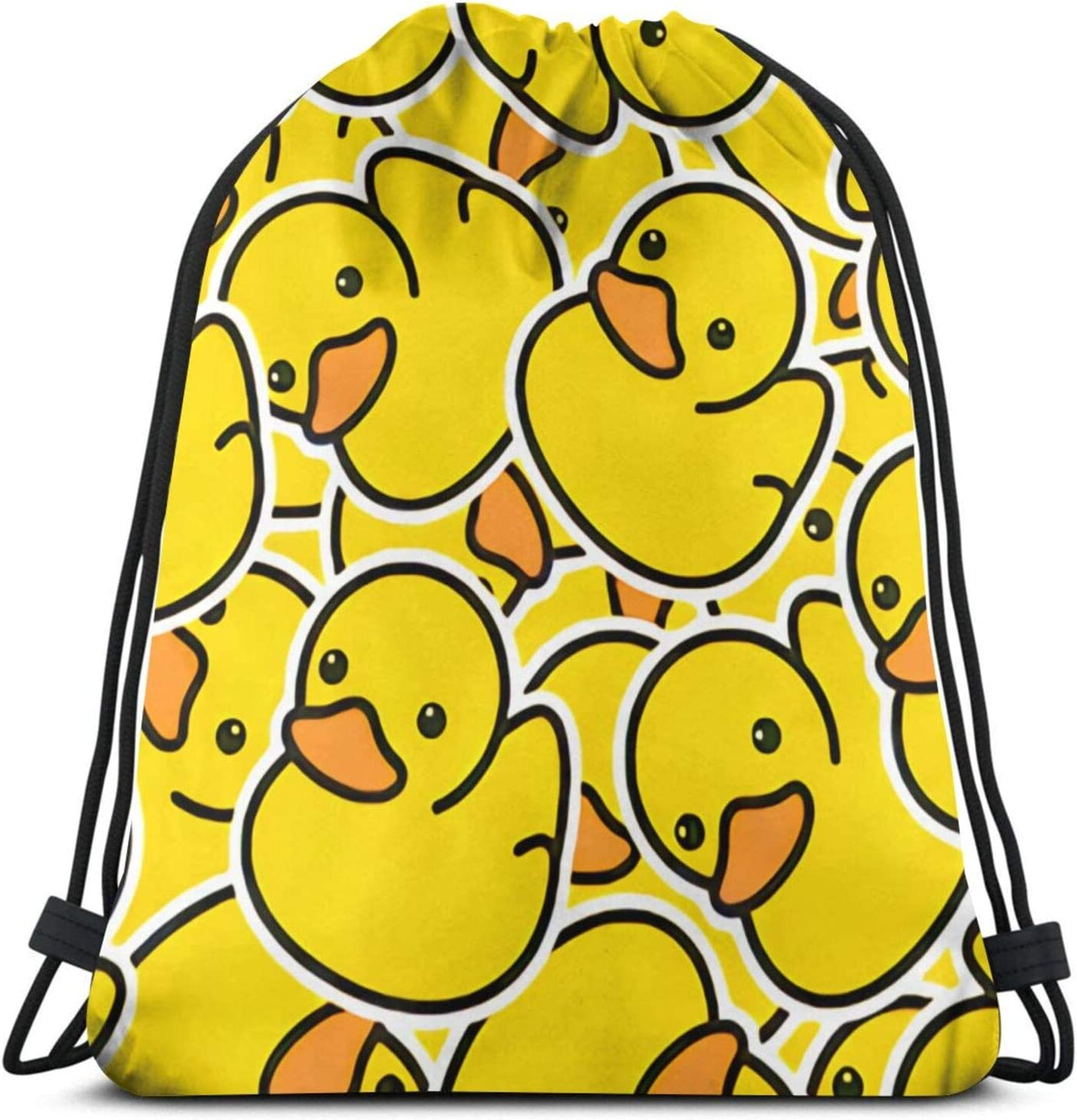 Drawstring Backpack Bags Sports Gym String Bags 3D Print Rucksack Shoulder Bag Beach Duck Seamless Pattern Rubber Sack Party Favor Bags