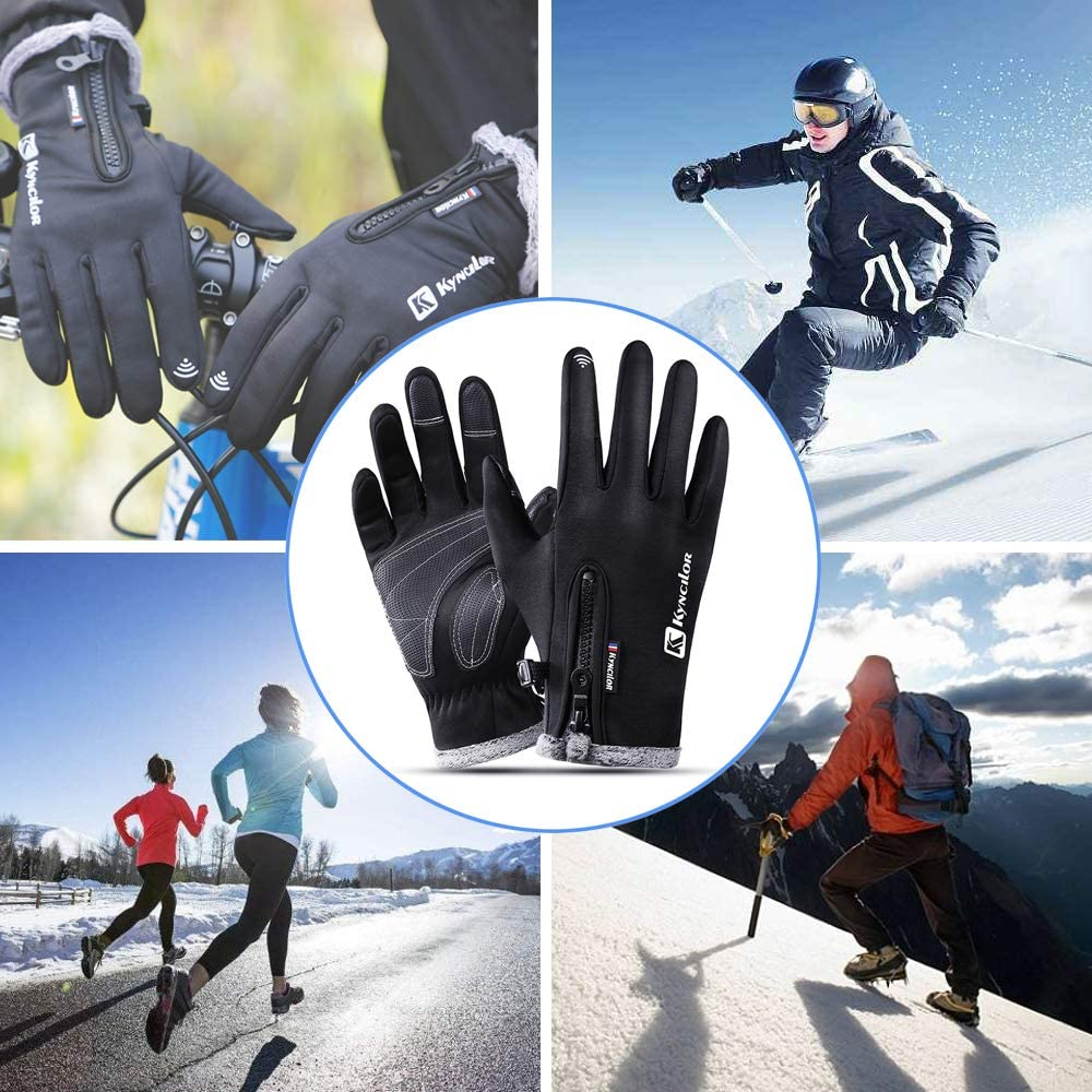 AIEOE Men Women Winter Gloves Windproof Touch Screen Driving Cycling Gloves