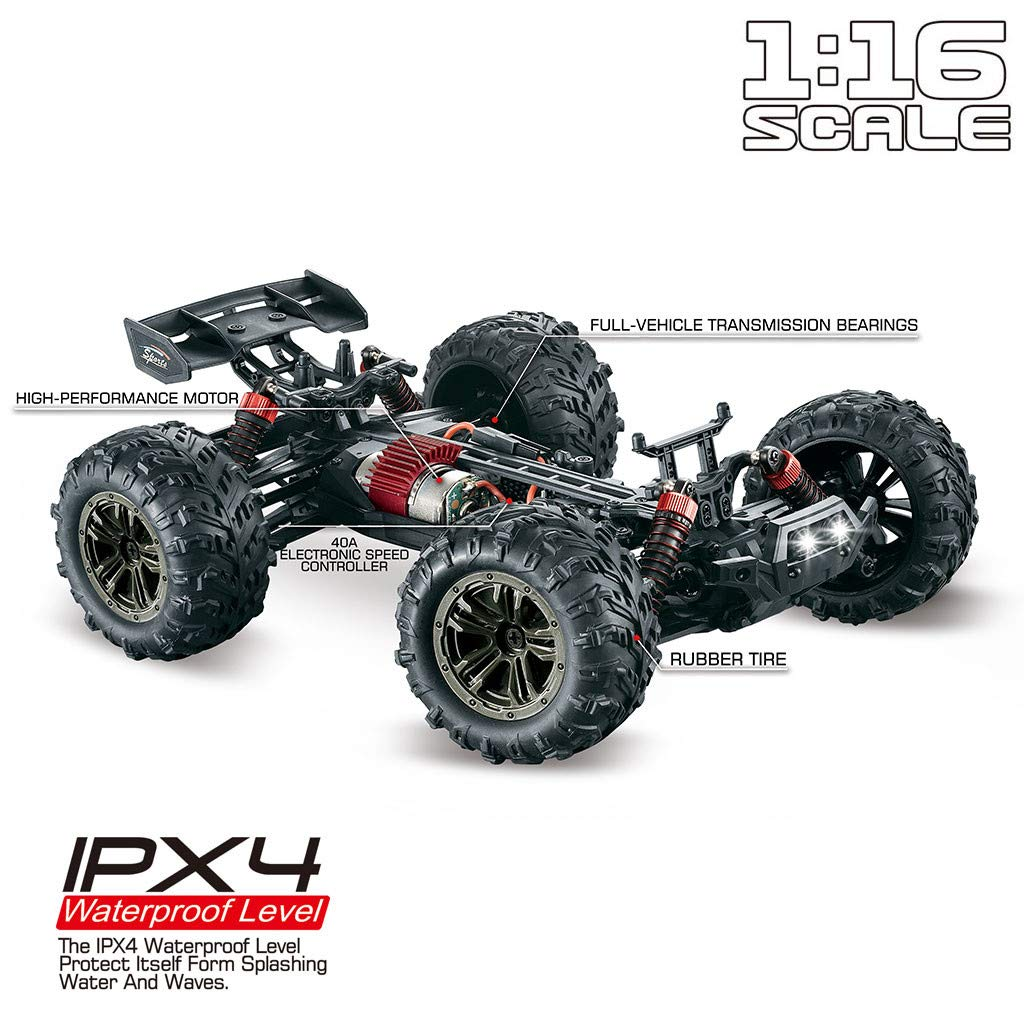 DIGOOD All Terrain RC Cars High Speed 4WD Remote Control Truck Waterproof Off-Road