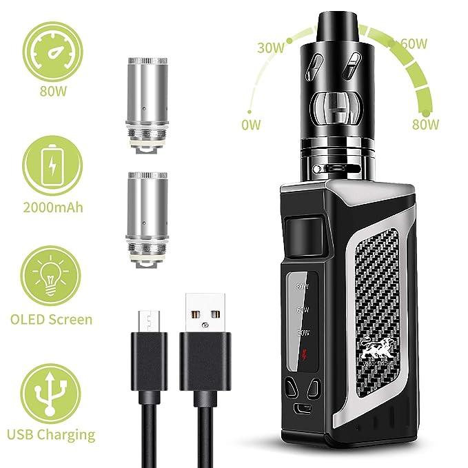 joylink Vaper Cigarrillos Electronicos, 80W E Cigarette 0.5 ohm Resistencia 2000mAh Batería Top Refill Vaporizador Cigarros Electronicos LED Display, ...